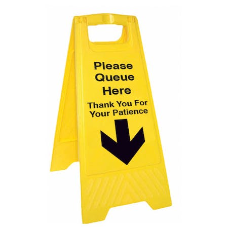 Please Queue Here Thank You