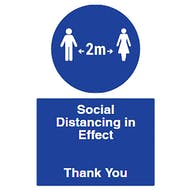 Spacing - Social Distancing In Effect - Thank You
