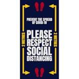 Please Respect Social Distancing Mat
