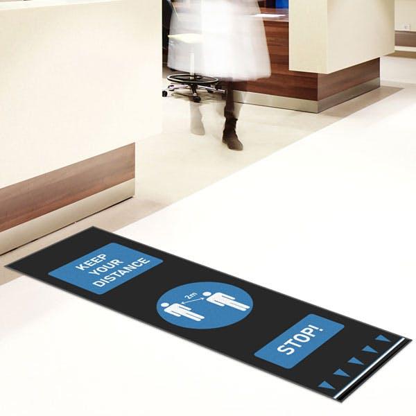 Social Distancing Floor Mats - People Design