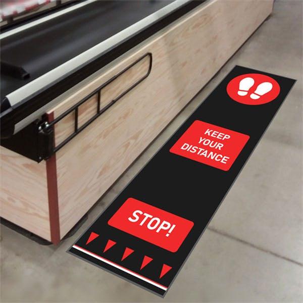 Social Distancing Floor Mats - Footprint Design