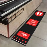 Social Distance Floor Matting - Footprint Design