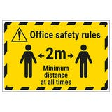 Office Safety Rules - 2m Temporary Floor Sticker
