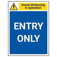Social Distancing In Operation - Entry Only
