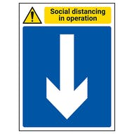 Social Distancing In Operation - Arrow Down