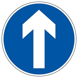 Multiple Direction Arrow Temporary Floor Sticker