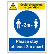 Workplace Social Distancing Signs