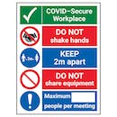 COVID-Secure Workplace - Do Not Share Equipment