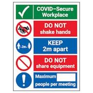 COVID Secure Premises Signs