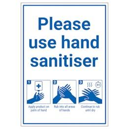Please Use Hand Sanitiser