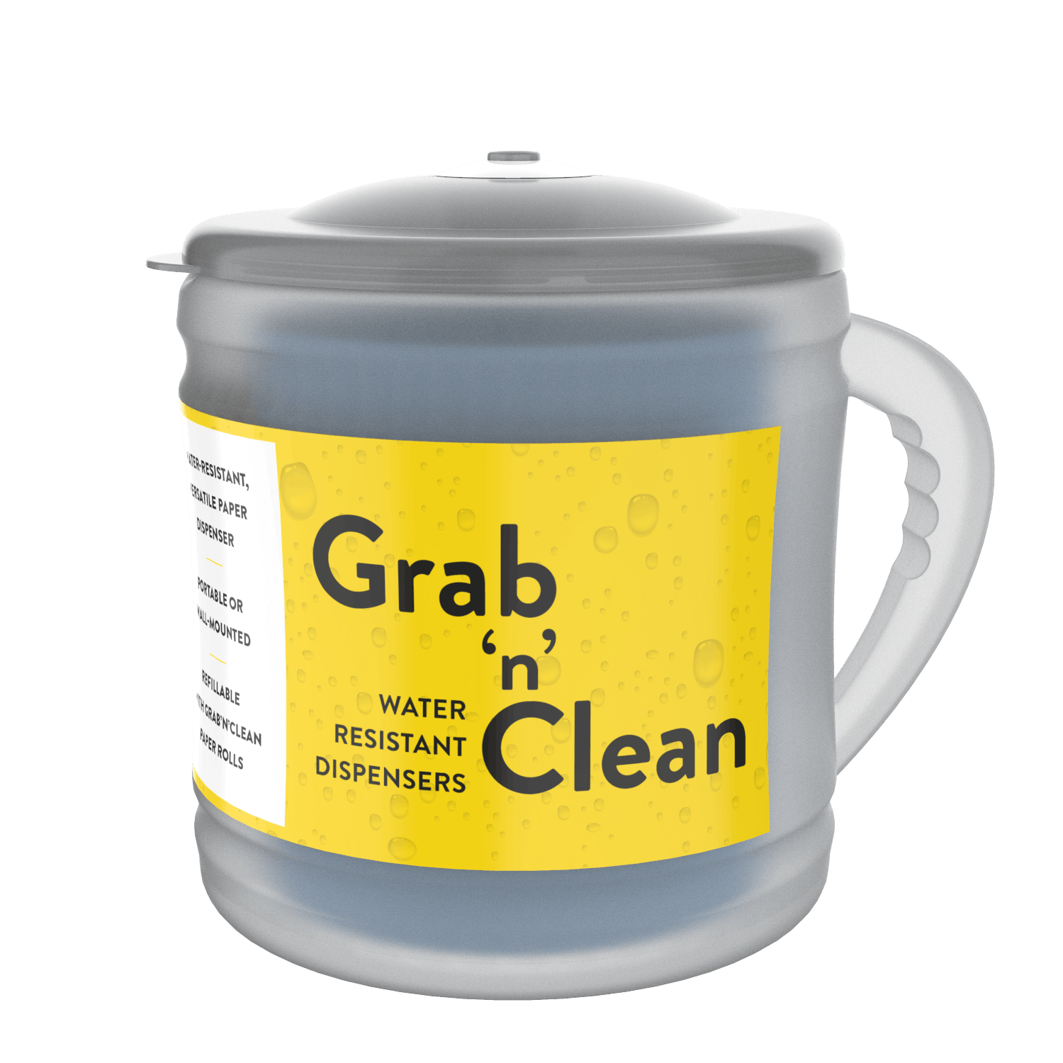 Grab 'n' Clean Portable Roll Dispenser