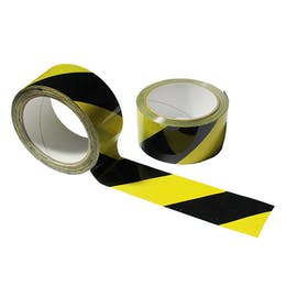 Social Distancing Black/Yellow Floor Marking Tape