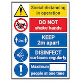Social Distancing In Operation - DISINFECT Surfaces