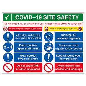 COVID-19 Site Safety Board - If You Have Symptoms