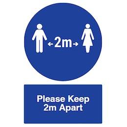 Spacing - Please Keep 2m Apart