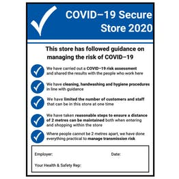 COVID-19 Secure Store 2020