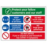 Protect Customers and Staff Retail Signs