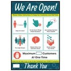 We Are Open - Max Customers Poster