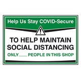 Stay COVID-Secure Retail Signs