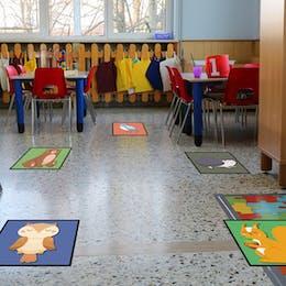 Social Distancing Scatter Mats For Schools