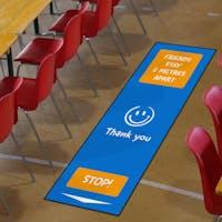 Social Distancing Floor Mats For Schools