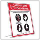 COVID-Secure Desk Sign - If You Have Symptoms