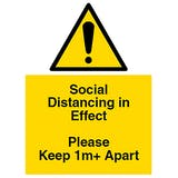 Social Distancing in Effect - Keep 1m+ Apart
