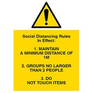 Social Distancing Rules