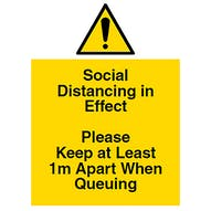 Social Distancing in Effect - 1m+ Queuing