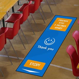 Social Distancing Floor Mats For Schools