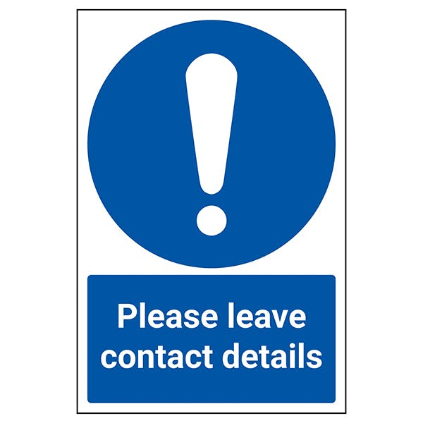 Please Leave Contact Details