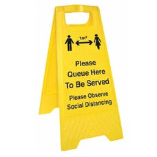 Please Queue Here - 1M - Floor Stand
