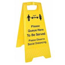 Please Queue Here - 1M - Floor Stand