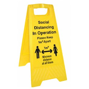 Social Distancing In Operation - 1M - Floor Stand