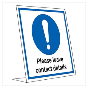 COVID-Secure Desk Sign - Please Leave Contact Details