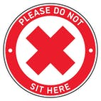 4pk Seat Marker - Cross Do Not Sit