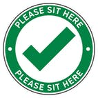 4pk Seat Marker - Sit Here