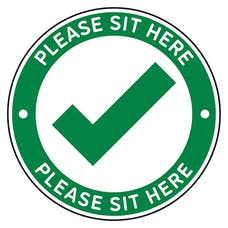 4pk Seat Marker - Sit Here