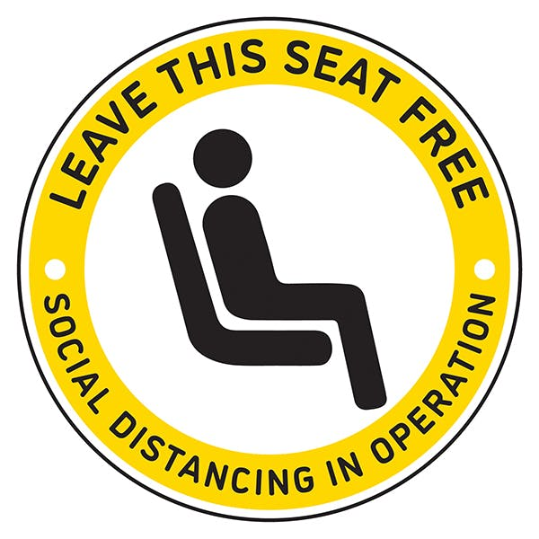 4pk Seat Marker - Leave Space Free