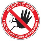 4pk Seat Marker - Hand Do Not Sit