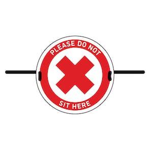 4pk Seat Marker - Cross Do Not Sit