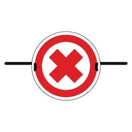 4pk Seat Marker - Cross