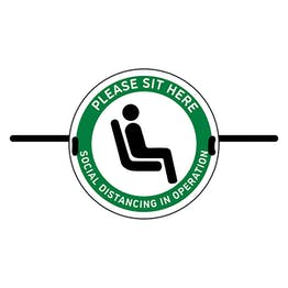 4pk Seat Marker - Please Sit Here