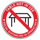 4pk Table Marker - Table Not In Use