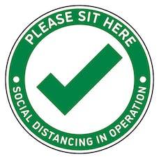 4pk Seat Marker - Tick Sit Here