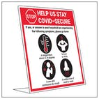 COVID-Secure Desk Signs
