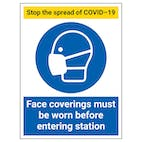 Stop The Spread - Face Coverings Must Be Worn