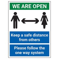 We Are Open Signs