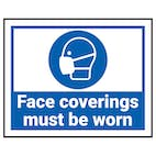 Face Masks & Coverings Signs