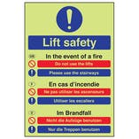 GITD Multilingual Fire Action - Lift Safety